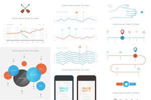 vector elements of infographics