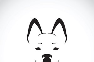 Vector of a dog face. Pet