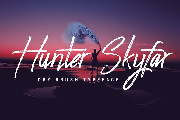 Hunter Skyfar- Dry Brush Script