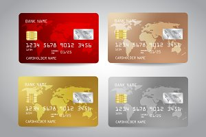 Credit Cards Templates Set