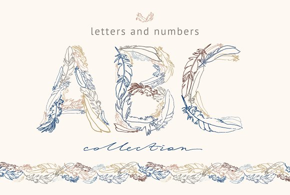 Feather Monograms in Illustrations