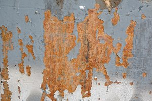 Weathered rust texture.