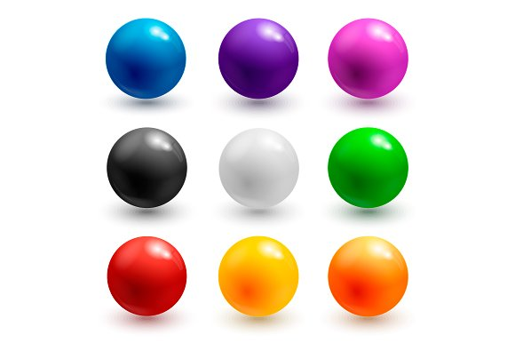 Colorful Glossy Balls Or Buttons