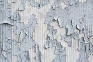Gray Paint Flaking Off Concrete