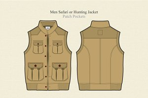 Men Safari or Hunting Jacket