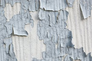 Gray Paint Flaking Off Concrete