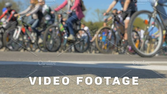 Bicycles On The Street Slowmotion 180fps