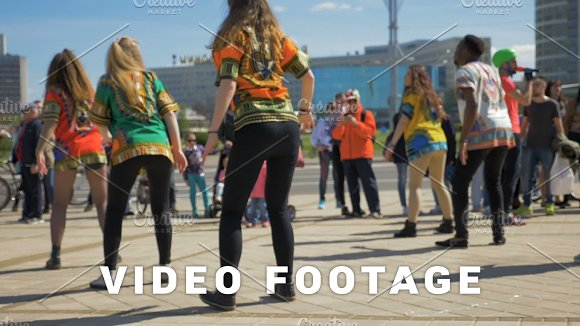 Street Dancing On Festival Slowmo 180 Fps