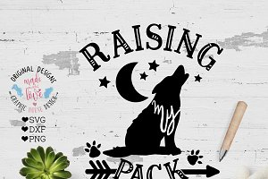 Raising My Pack Cut File SVG DXF PNG