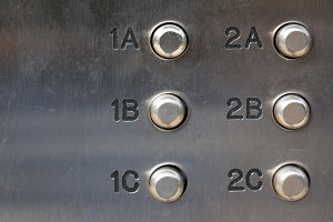 Intercom door bell buttons