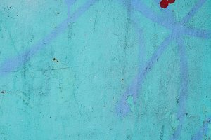 Surface with blue over blue paint
