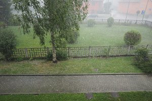 heavy rain and hail