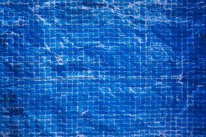 Vibrant Weathered Blue Tile Texture