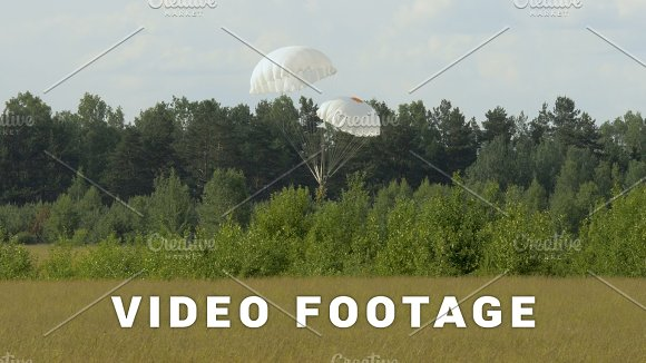 Skydiver Dangerous Landing With Two Parachutes To Trees Slowmotion 60fps