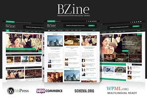 WordPress Magazine Themes: WPBootstrap - Bzine - WordPress HD Magazine