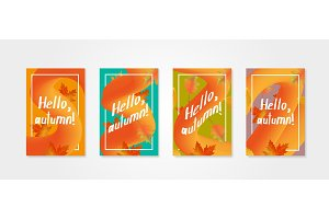 Hello autumn. Set of posters