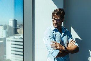 Portrait of a young businessman.