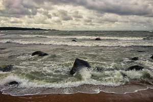 The Baltic Sea in a storm