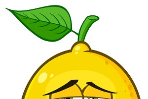 Grumpy Yellow Lemon Fruit