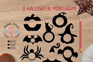 Halloween Monogram Cut Files