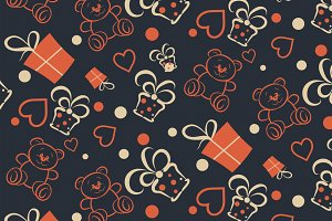 Birthday, retro wrapping paper