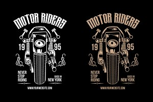 Motorcycle Riders T-Shirt Design