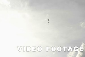 Parachutes jumping from airplanes - slowmotion 60 fps