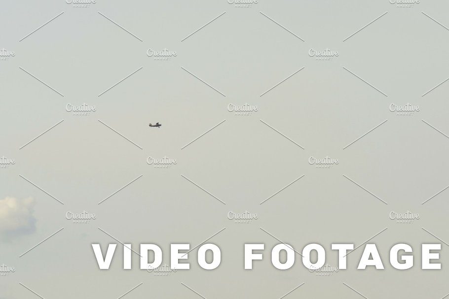 Small aiplane in the sky - slowmotion 60 fps in Graphics - product preview 8