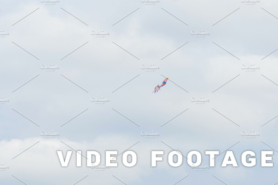 Colored kite octopus flying in the air - slowmo 60 fps in Graphics - product preview 8
