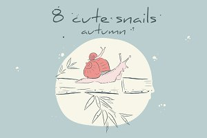 8 snails in the fall