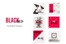 Social Media pack - BlackRed