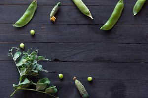 Peas and cucumbers