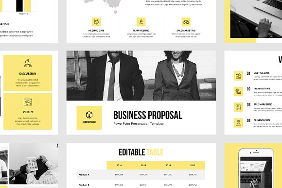 Business Proposal Ppt Template Presentation Templates Creative