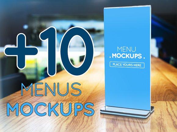10 Table Tent Menu Mockups Vol 1