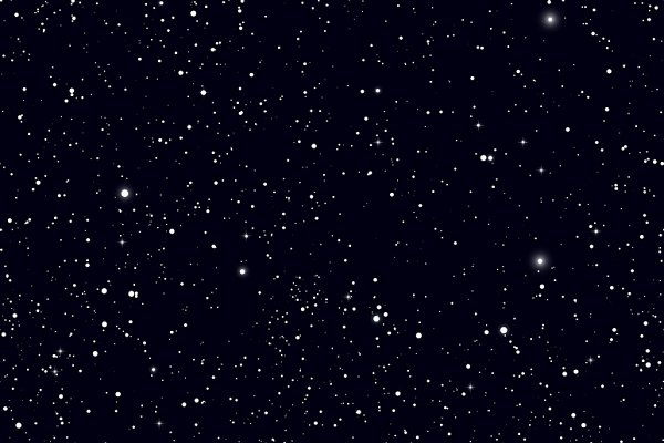 Space with stars vector background