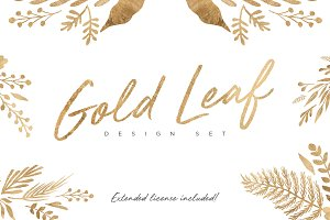 Gold Leaf Design Set