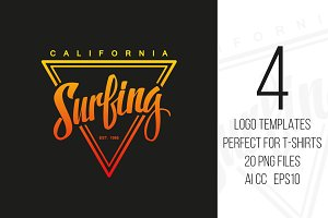 Surfing Logo Set.