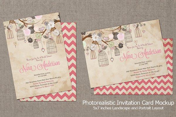 Invitation Card Mockup v3
