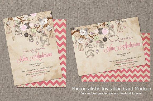 Invitation Card Mockup V3 Product Mockups Creative Market