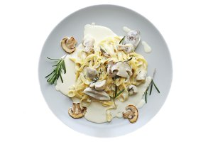 Tagliatelle vegetarian Pasta Dish with Mushrooms