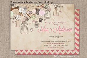 Invitation Card Mockup v2