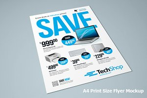 Photorealistic Flyer Mock-up