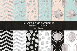 Silver Foil Digital Patterns No. 1