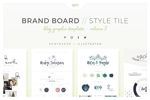 Brand Boards / Style Tiles VOL 3