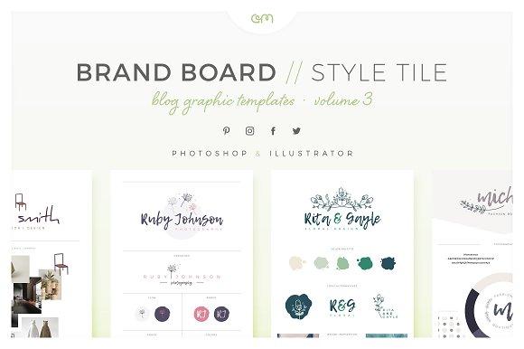 Brand Boards Style Tiles VOL 3 Web Elements Creative Market