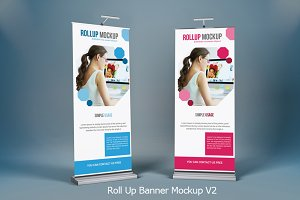 Roll Up Banner Mock-Ups V2