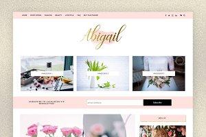 Feminine Blogger Template - Abigail
