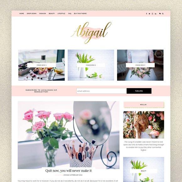 Feminine Blogger Template Abigail