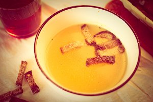 Soup with croutons