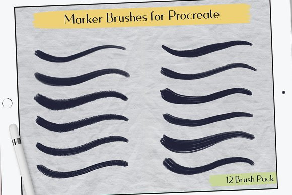 Marker Procreate Brushes